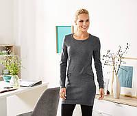 Теплое вязанное платье-туника (24% шерсть) от тсм Tchibo (Чибо), Германия, размер укр 54-58