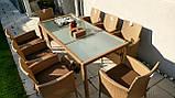Обідній комплект меблів зі столом для саду ENDO 8+1, фото 3