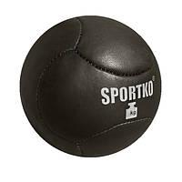 Мяч Медбол SPORTKO Кожа 1кг, под заказ, 14 дней