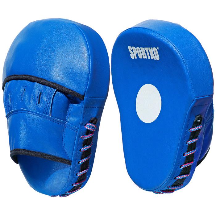 Лапы боксёрские SPORTKO Яблоко арт.ПД5 синие, под заказ, 7 дней