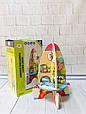 """Розвиваюча дерев'яна іграшка """"Ракета"""" (бизиборд, пальчиковий лабіринт) арт. 1053 (23214), фото 2"""