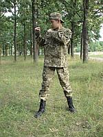 Детский военный костюм Киборг камуфляж Пиксель