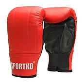 Перчатки снарядные кожанные SPORTKO арт.ПК3 красный S/M, под заказ, 5 дней