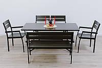 Комплект мебели Стелла стол +1 лавка + 2 стула венге