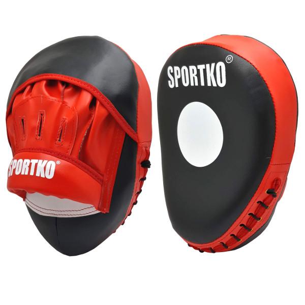 Лапы боксёрские SPORTKO Яблоко арт.ПД6 красные, под заказ, 7 дней