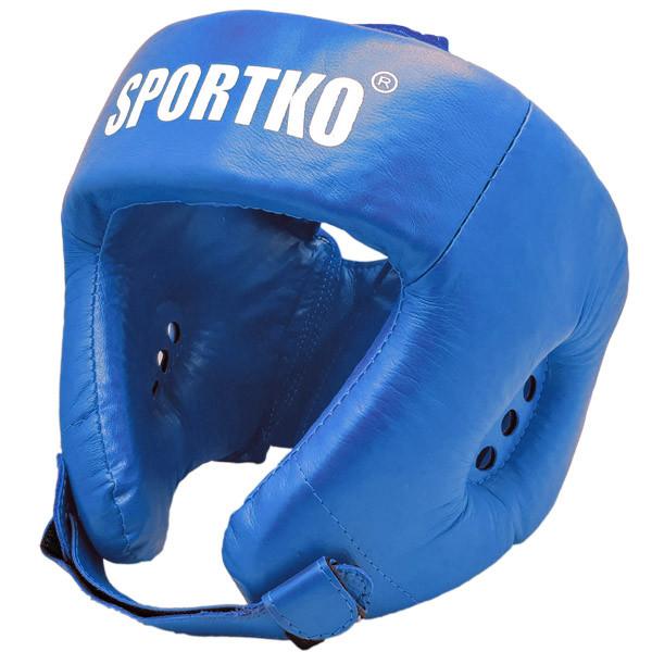 Шлем боксёрский SPORTKO арт. ОК2 синий, под заказ, 7 дней