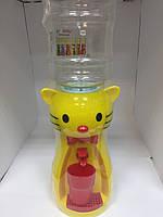 Кулер Китти желтый/Диспенсер для воды детский 2,5 л