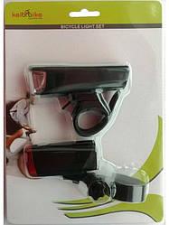 Комплект світла Фара + стоп YI JING JY-7036+401S на батарейках з кріпленням