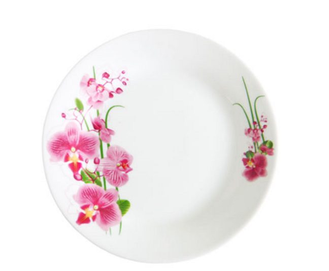 """Обеденная тарелка """"Орхидея"""" 20см (фарфор)"""
