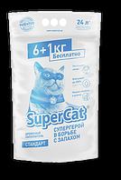 Древесный наполнитель для кошачьего туалета Super Cat Стандарт Белый 7 кг