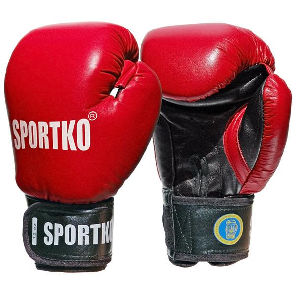 Боксерские перчатки SPORTKO кожаные ФБУ 12 унций арт.ПК1, под заказ, 5 дней