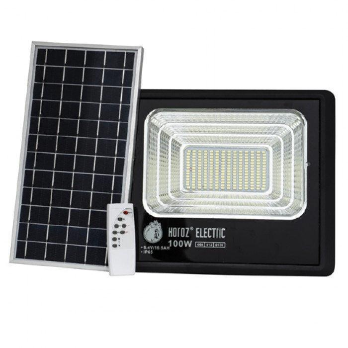 Прожектор світлодіодний з сонячною панеллю TIGER-100 100W 6400K