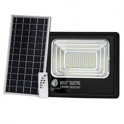 Прожектор світлодіодний з сонячною панеллю TIGER-100 100W 6400K, фото 2