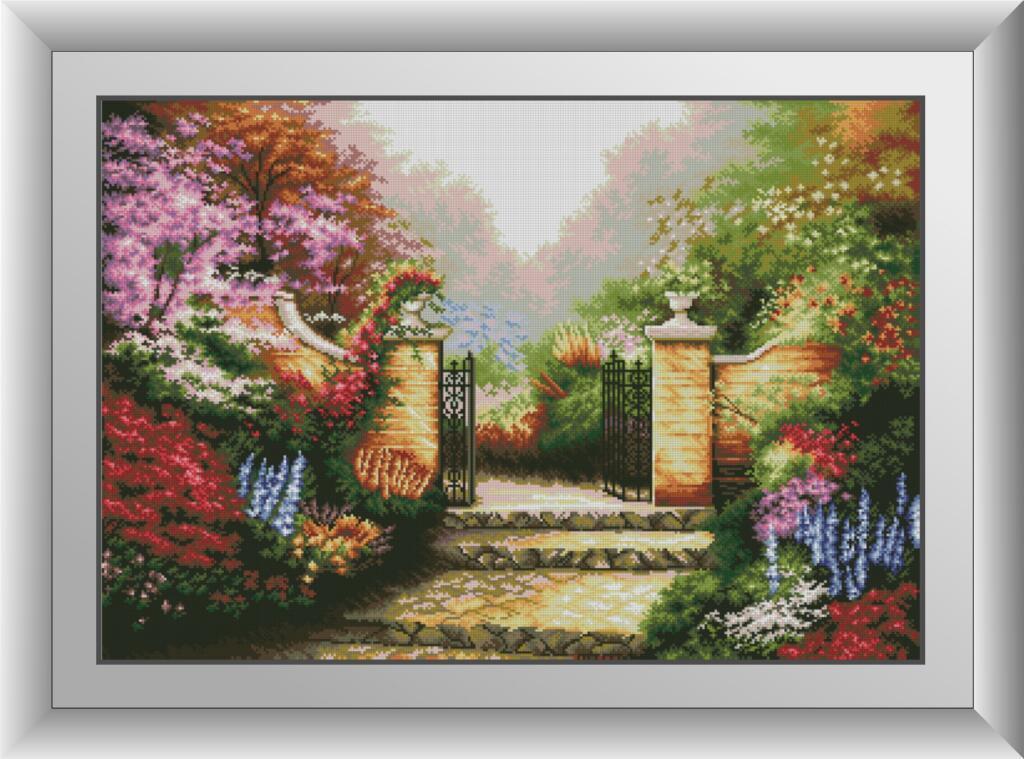 Мозаика квадратными камнями Цветущий сад Dream Art 30875 (57 x 82 см)
