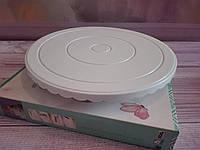 Столик поворотный для торта, диаметр 29 см, с резинкой