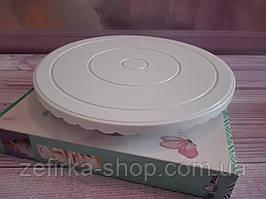 Столик поворотный для торта, диаметр 27 см, с резинкой