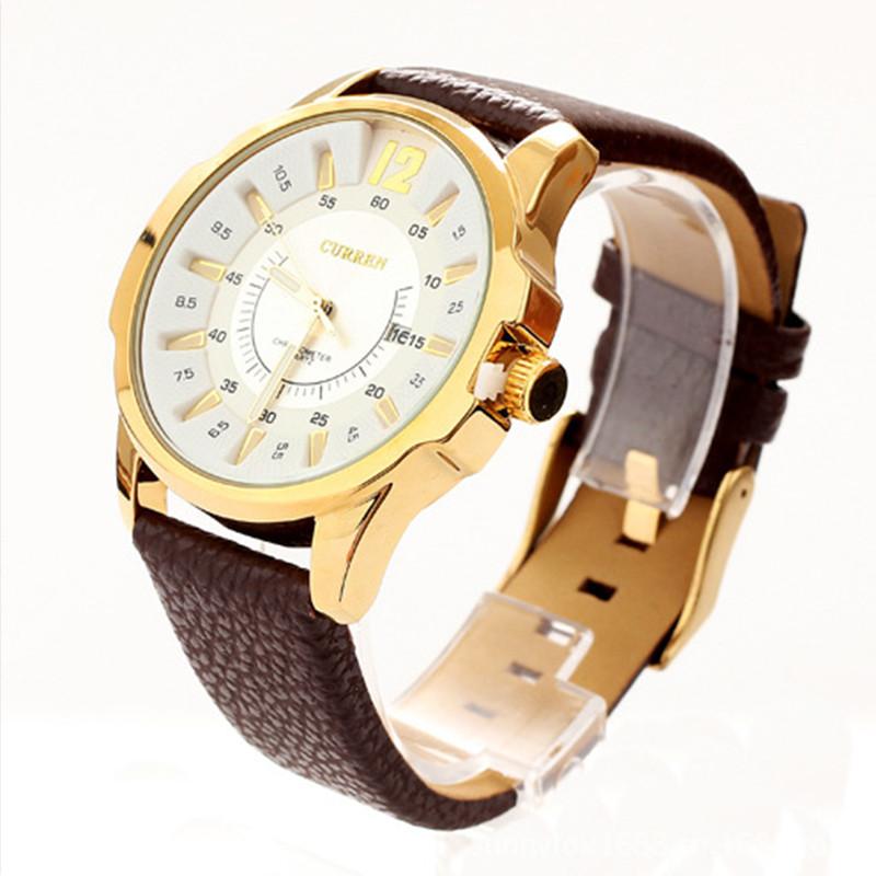 Мужские часы Curren Chronometer 8123 gold-white