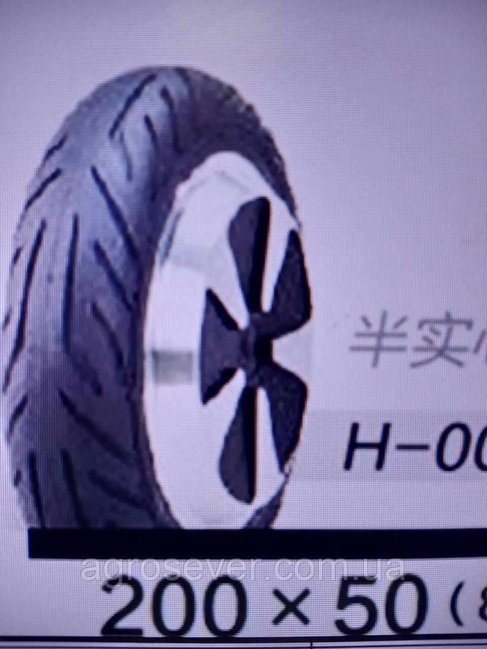 Колесо покрышка 200x50 (8X2) H-003 цельнолитое для детского велосипеда