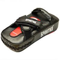 Пады для тайского бокса SPORTKO ПТК-1 кожа, под заказ, 7 дней
