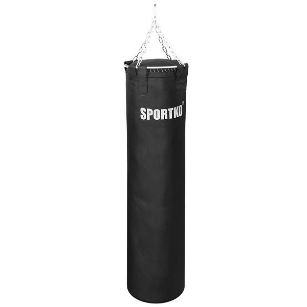 Боксерский мешок SPORTKO Ременная Кожа  высота 150 ф50 вес 80кг c цепями арт.МРК-15050, под заказ, 10 дней
