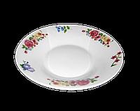 """Полупорционная тарелка """"Букет"""" 20см (фарфор)"""