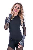 Рашгард женский Totalfit RW3-P43 L черный с серым, фото 1