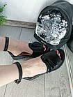 Женские черные босоножки, из натуральной кожи 36 ПОСЛЕДНИЙ РАЗМЕР, фото 2