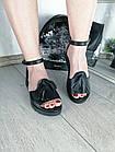 Женские черные босоножки, из натуральной кожи 36 ПОСЛЕДНИЙ РАЗМЕР, фото 3