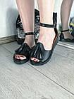 Женские черные босоножки, из натуральной кожи 36 ПОСЛЕДНИЙ РАЗМЕР, фото 4