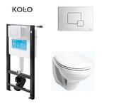 Комплект:UNIT1+IDOL подвесной унитаз+сиденье soft-close Pure L +кнопка 94173-001 белая