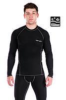 Чоловіча термофутболка Totalfit Sport TMR33 L Чорний з сірим, фото 1
