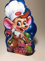 Новогодняя картонная упаковка для конфет, Символ года 2020 Мышка