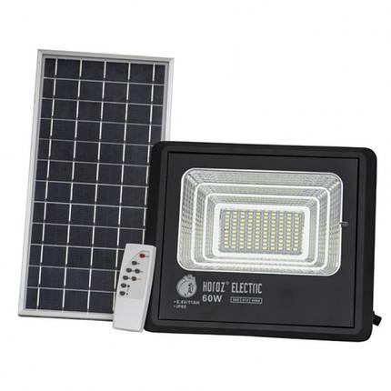 Прожектор світлодіодний з сонячною панеллю TIGER-60 60W 6400K, фото 2