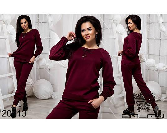 Бордовый спортивный костюм женский, фото 2