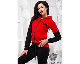 Женский красно белый спортивный костюм, фото 3