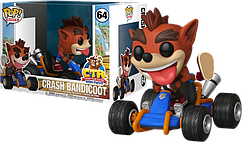 Фигурка Funko Pop Фанко Поп Крушение бандикут Крэш Бандикут Crash Racing Crash Bandicoot 10 cм Game CT 64