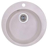 Кухонная гранитная мойка Fosto круглая (ø470 мм), одночашевая, цвет персик (FOSD470SGA800)