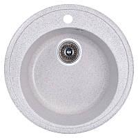 Кухонная гранитная мойка Fosto круглая (ø510 мм), одночашевая, цвет олово (FOSD510SGA210)