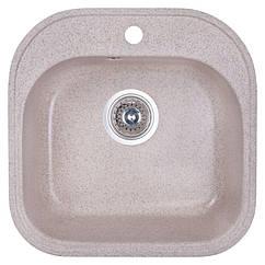 🇱🇻 Кухонная гранитная мойка Fosto квадратная (480x490 мм), одночашевая, цвет песок (FOS4849SGA300)