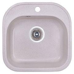🇱🇻 Кухонная гранитная мойка Fosto квадратная (480x490 мм), одночашевая, цвет персик (FOS4849SGA800)
