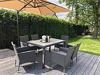 Обеденный набор садовой мебели из ротанга, фото 1