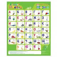 Плакат азбука знаток весела абетка украинский язык