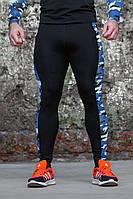 Тайтсы мужские Totalfit G4-P41 L черный с синим