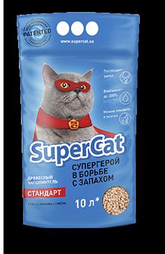 Древесный наполнитель для кошачьего туалета Super Cat Стандарт Синий 3 кг