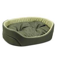 Лежак для собак Природа Омега, хаки/оливка, 43х34х13 см