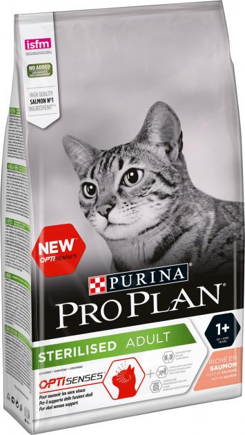 Сухой корм для котов Purina Pro Plan Sterilised Salmon 10 кг