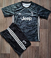 Детская футбольная форма Ювентус 2019-2020 черная, фото 1