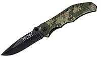 Нож складной с пластиковой рукояткой, зелёного камуфляжного цвета, рельефный, хороший подарок охотнику, рыбаку