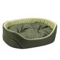 Лежак для собак Природа Омега, хаки/оливка, 66х50х17 см
