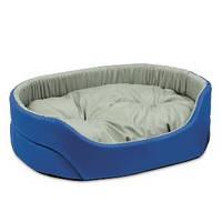 Лежак для собак Природа Омега, серо-синий, 55х43х15 см